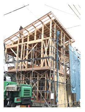 田町4丁目新築住宅上棟